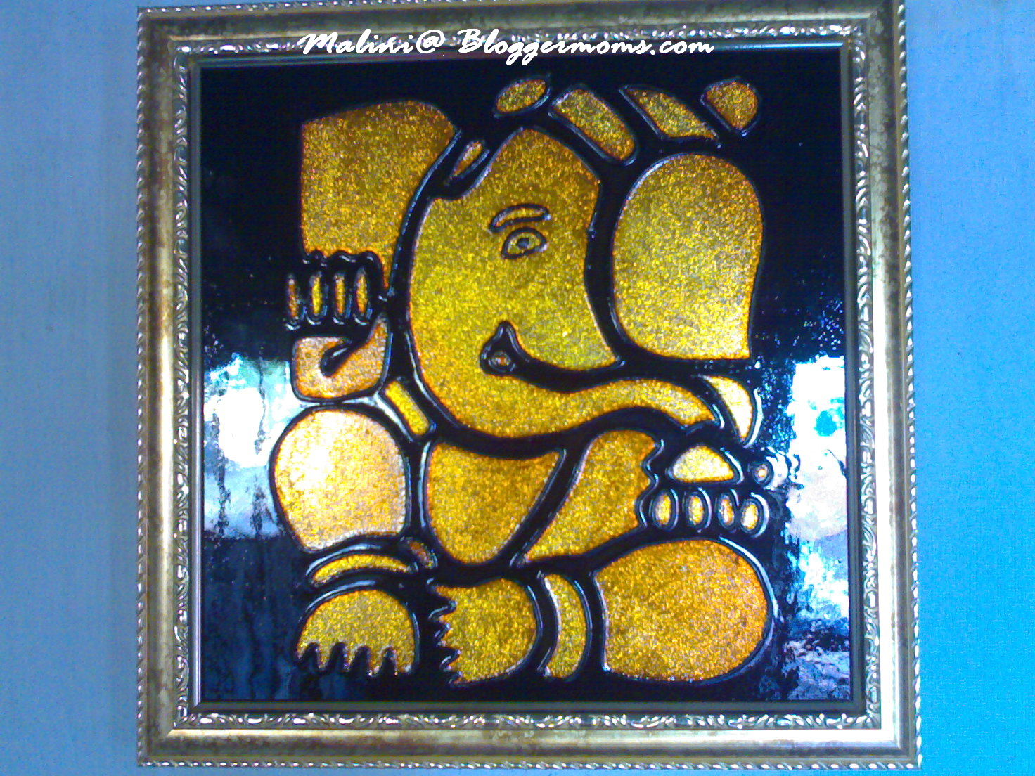 Simple glass painting designs ganesh for Innovative painting ideas